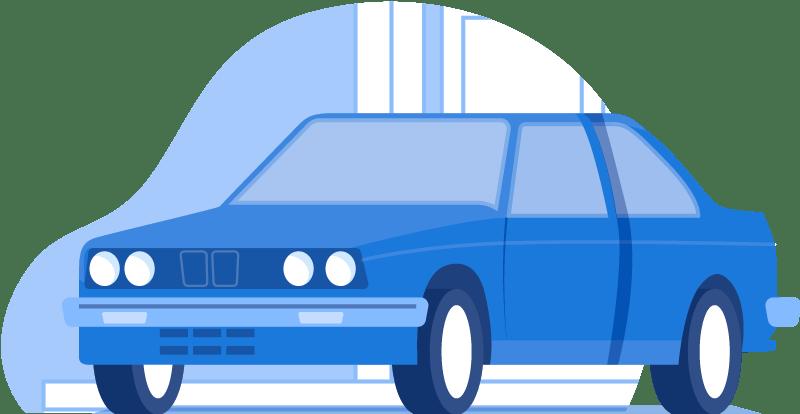 A Blue Car - Auto Insurance