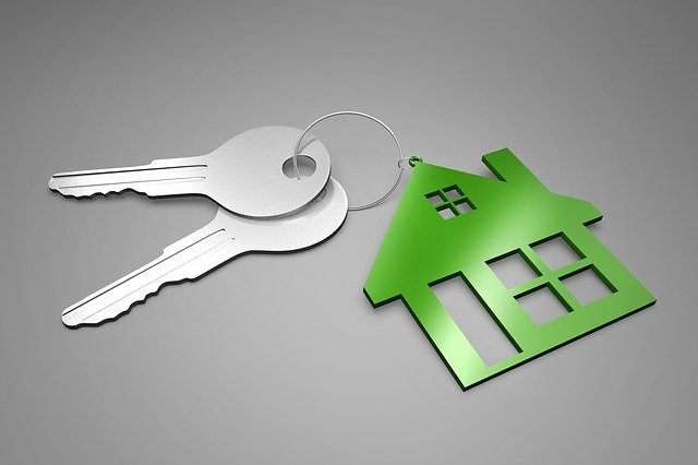 A house key chain and keys - Land Lord Insurance